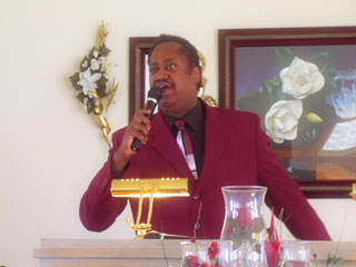 Graphic of Pastor Leroy Williams preaching, You Make My Dreams Come True at Emmanuel House of Praise Church in Poplar Bluff Missouri