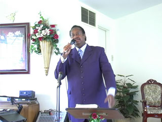 Graphic of Pastor Leroy Williams preaching, God Will Take Care of You, at Emmanuel House of Praise Church in Poplar Bluff Missouri